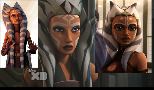 Ahsoka's evolution through the years
